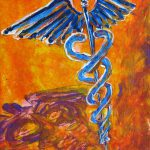 Orange Blue Purple Medical Caduceus Thats Atmospheric Rising Mystery