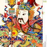 Oriental Art Colorful Drawing