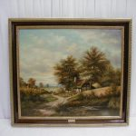 Original Baumgart Oil Painting Mensing Sale Antiques