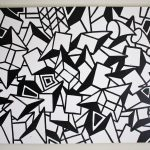 Original Black White Abstract Contemporary Minimalism