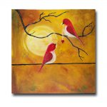 Original Canvas Painting Love Birds
