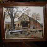 Original Hargrove Oil Painting Old Barn Fall Folk Art Paintings