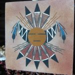 Original Navajo Indian Sand Painting Signed
