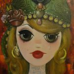 Original Painting Sworn Fun Big Eyed Gypsy Girl
