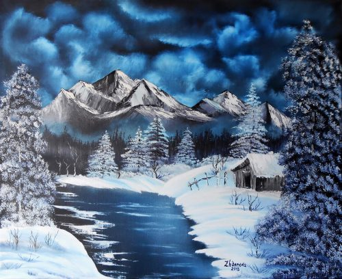Original Paintings Interior Exclusive Digital Print Oil Painting Winter