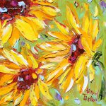 Original Sunflowers Oil Painting Canvas Impasto