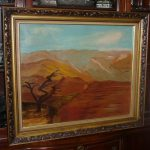 Original Vintage Oil Painting Southwest Landscape Signed Framed Glass Plein Air