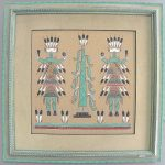 Original Wallace Ben Navajo Sand Painting Native American Artist Sandpaintings