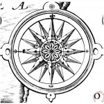 Others Compass Rose Painting Print