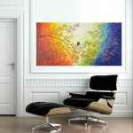 Over Rainbow Qiqigallery Original Modern Abstract Landscape Wall
