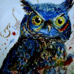 Owl Painting Angelic Painter