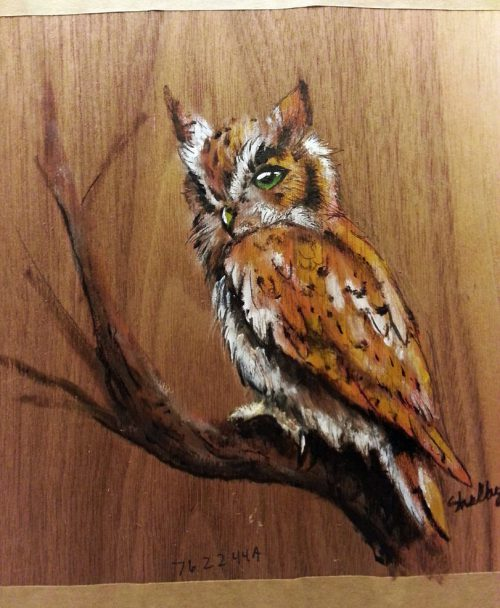 Owl Painting Pine Wood Theartofonyx