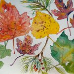 Paint Fall Leaves Watercolor Steps