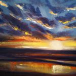 Paint Sunset Oils Step