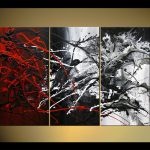 Painting Sale Black Red White