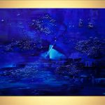 Painting Sale Blue Abstract Art Textured Home