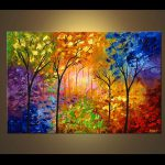 Painting Sale Bold Colorful Blooming