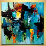 Painting Sale Colorful Blue Abstract Art Modern Palette