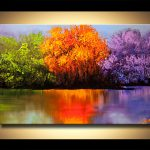 Painting Sale Colorful Landscape Blooming Trees