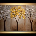Painting Sale Gold Silver Tree