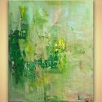 Painting Sale Green Modern Textured Abstract Art Home