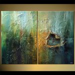 Painting Sale Heavy Textured Diptych Home