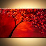 Painting Sale Textured Blooming Red