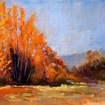 Painting Small Impressions November Original American Landscape
