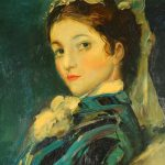 Painting Victorian Era Woman Sale