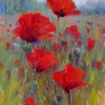 Painting World Field Red Poppies