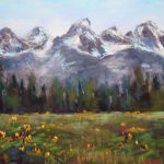 Painting World Mountains Grand Teton National