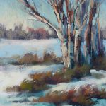 Painting World Pastel Demo Winter Landscape Value