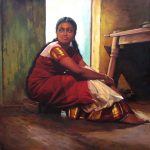 Paintings Classical Young Women Tamil Nadu