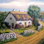 Paintings Originals Sale English Cottage
