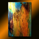 Paintings Sale Original Abstract Painting Contemporary Metallic Fine Art