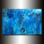 Paintings Sale Original Thick Texture Blue Abstract Painting Contemporary Modern Fine