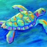 S Theresa Paden Colorful Contemporary Sea Turtle