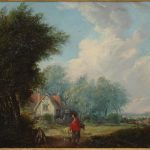 Pair Early Century Landscape Paintings