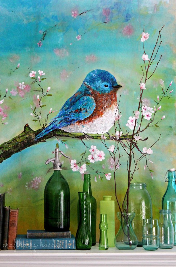 Palette Knife Acrylic Painting Blue