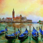 Palette Knife Speed Painting Oil Venice Water Lana Kanyo