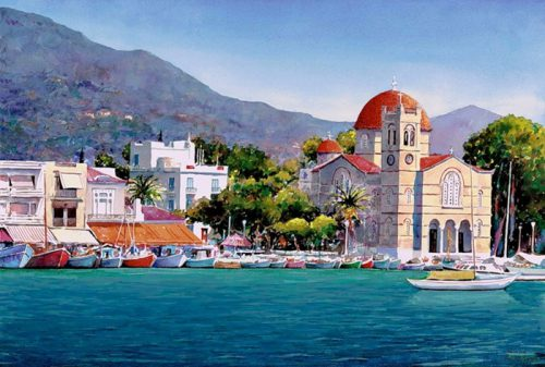 Pantelis Zografos Watercolors Greek Islands Tutt Art Pittura Scultura