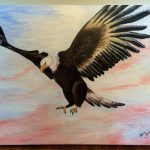 Patriotic Eagle Acrylic Painting Theresaannpaintings