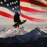 Patriotic Eagle Flag Painting Glenn