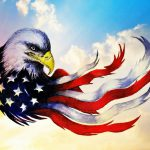 Patriotic Eagle Painting Andrew