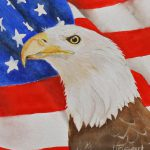 Patriotic Eagle Painting Grace