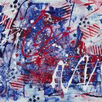 Patriotic Fireworks Painting Julie Acquaviva