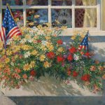Patriotic Flower Box Painting