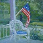 Patriotic Porch Painting Judy Fischer