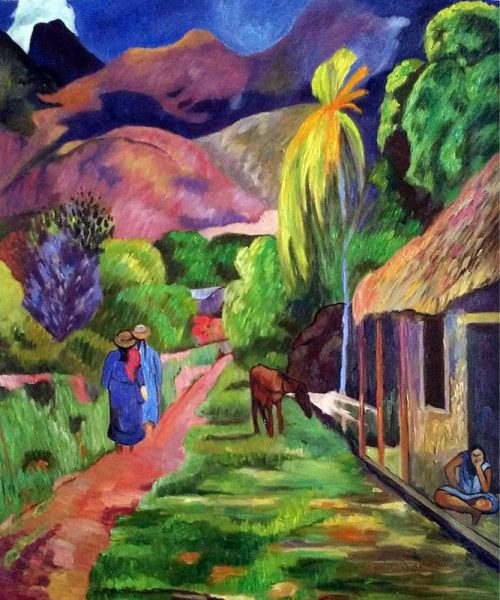 Paul Gauguin Road Tahiti Hand Painted Oil Painting