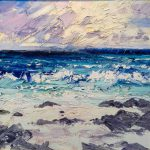 Paul Treasure Rocky Beach Abstract Landscape Oil Painting Sale